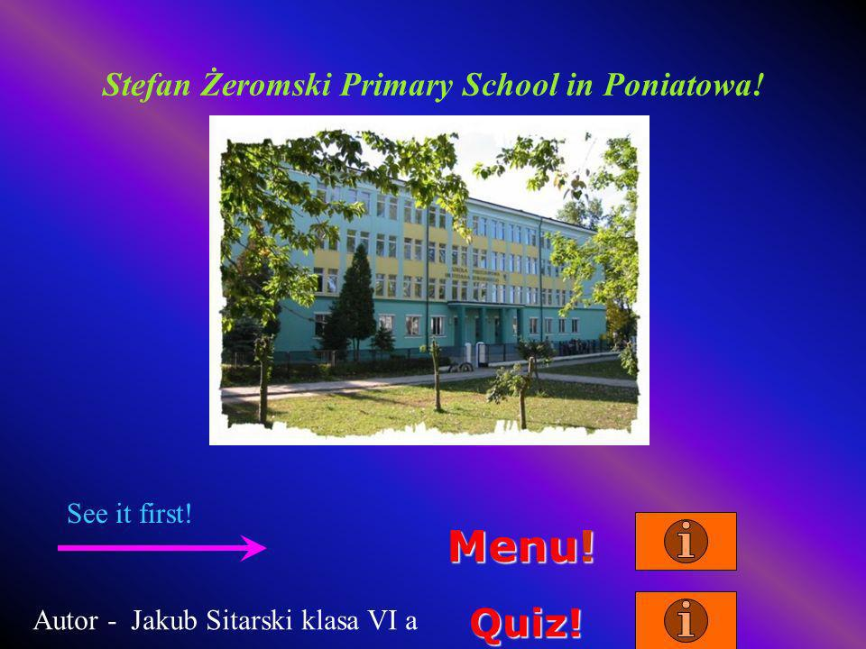 Stefan Żeromski Primary School in Poniatowa. Menu.