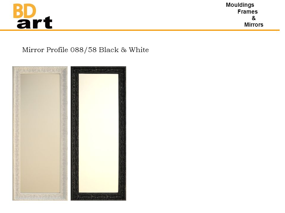 Mouldings Frames & Mirrors Mirror Profile 088/58 Black & White