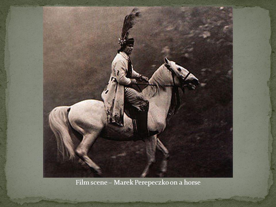 Film scene – Marek Perepeczko on a horse
