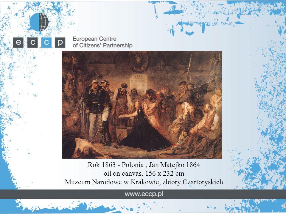 Rok 1863 - Polonia, Jan Matejko 1864 oil on canvas.