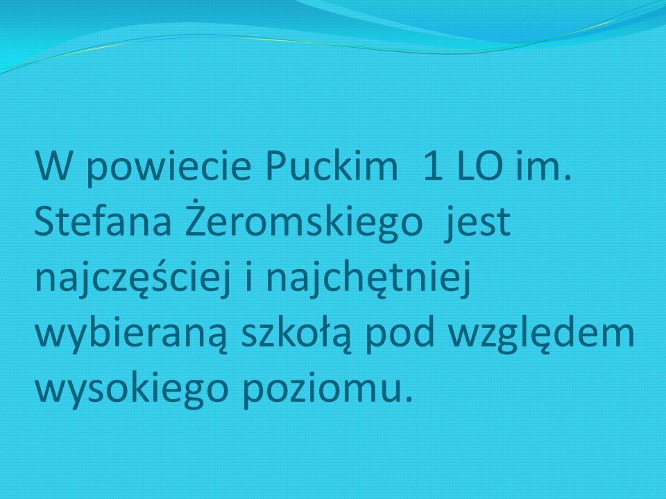 W powiecie Puckim 1 LO im.