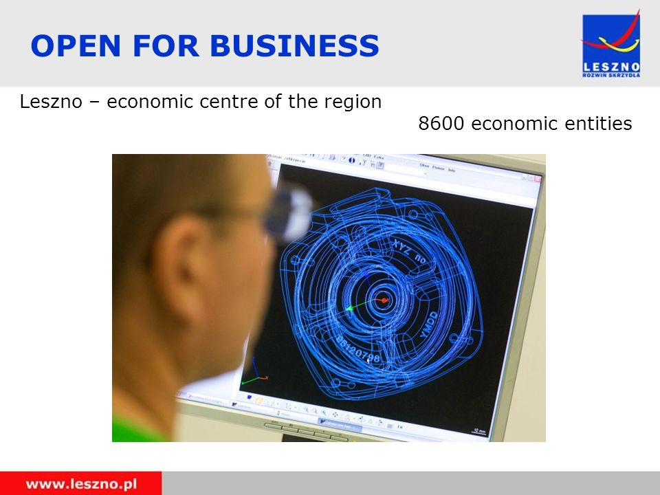 OPEN FOR BUSINESS Leszno – economic centre of the region 8600 economic entities