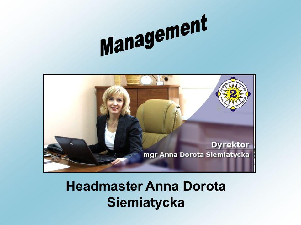 Headmaster Anna Dorota Siemiatycka