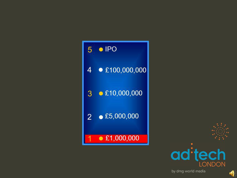 3 2 1 £5,000,000 £1,000,000 £10,000,000 4 £100,000,000 5 IPO