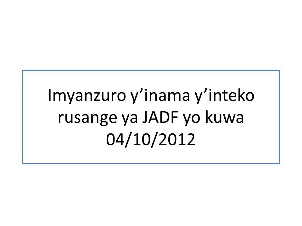Imyanzuro yinama yinteko rusange ya JADF yo kuwa 04/10/2012