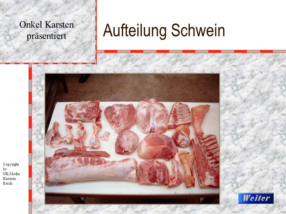 Aufteilung Schwein Onkel Karsten präsentiert Copyright by OK.Media Karsten Reich
