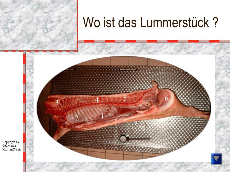 Wo ist das Lummerstück ? 1 2 3 4 5 6 Copyright by OK.Media Karsten Reich