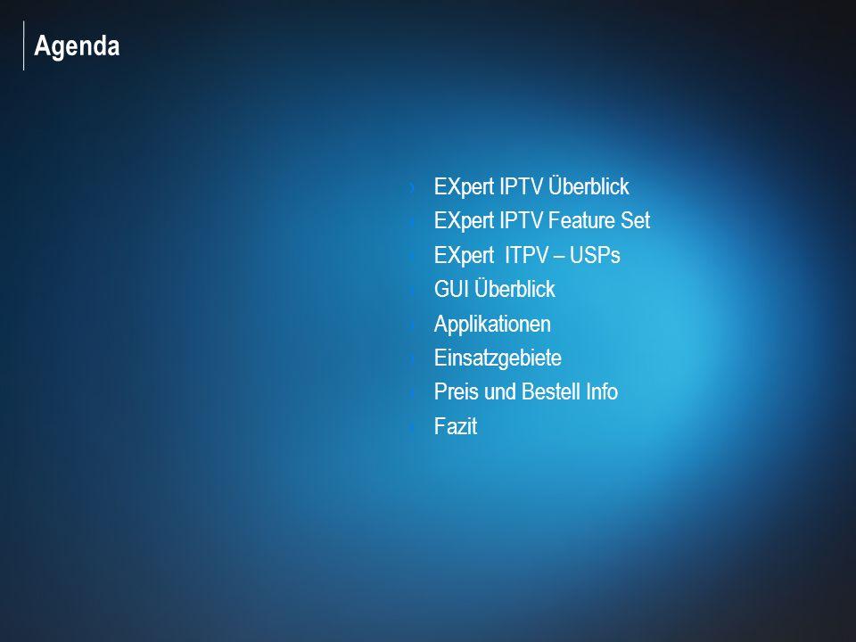 2 © 2010 EXFO Inc. All rights reserved.. Agenda EXpert IPTV Überblick EXpert IPTV Feature Set EXpert ITPV – USPs GUI Überblick Applikationen Einsatzge