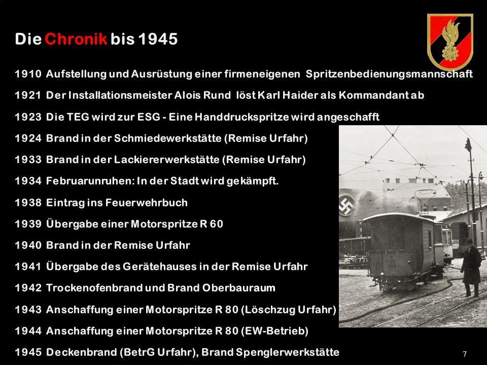 6 Eintragung in das Feuerwehrbuch EINE FEUERWEHR ENTSTEHT Die dunkelste Periode der österreichischen Geschichte markiert gleichzeitig eine Scheinblüte des Feuerwehrwesens.