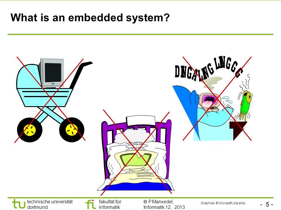 - 5 - technische universität dortmund fakultät für informatik P.Marwedel, Informatik 12, 2013 What is an embedded system? Graphics: © Microsoft (clip