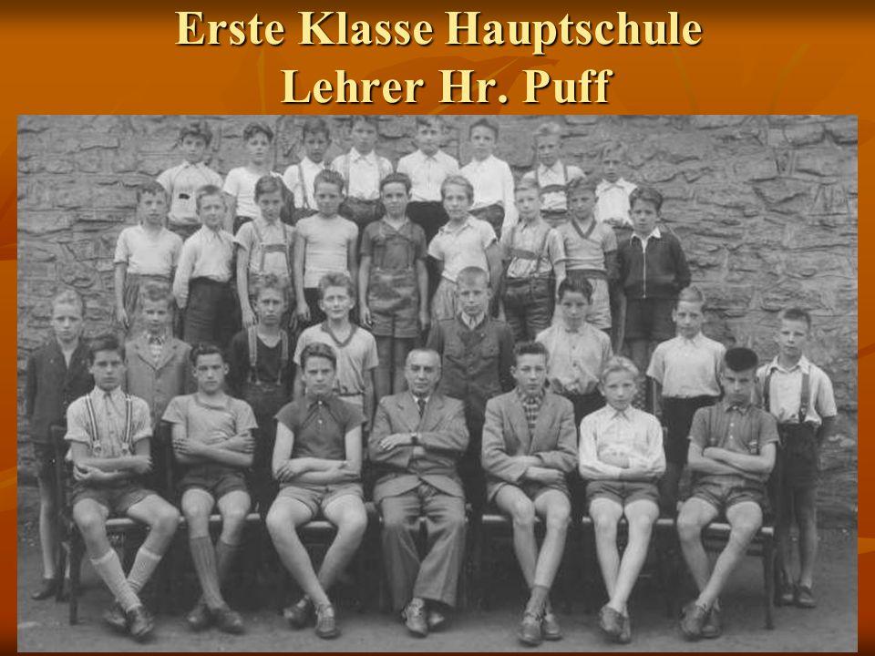 Erste Klasse Hauptschule Lehrer Hr. Puff
