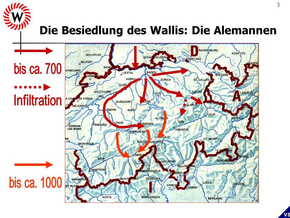 3 VS Die Besiedlung des Wallis: Die Alemannen