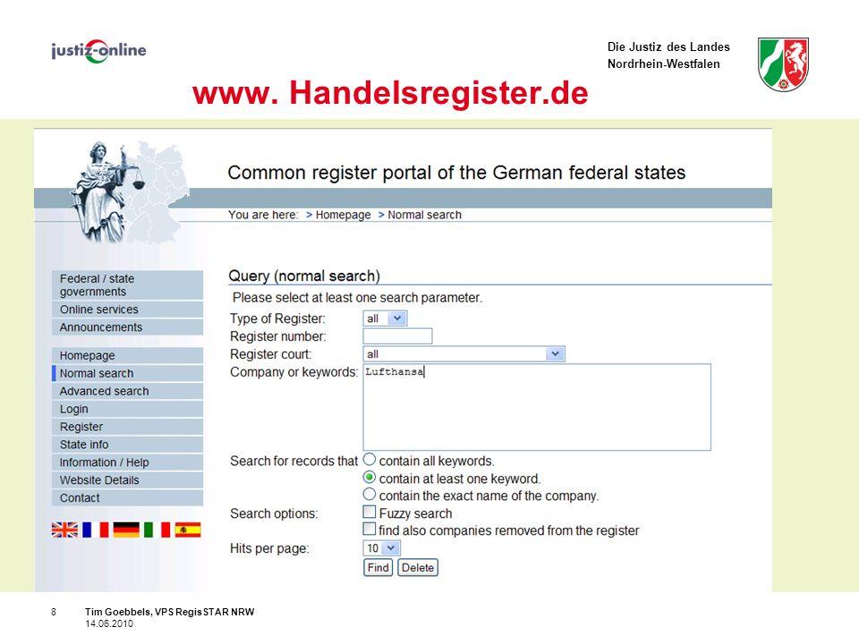 Die Justiz des Landes Nordrhein-Westfalen 8 www.