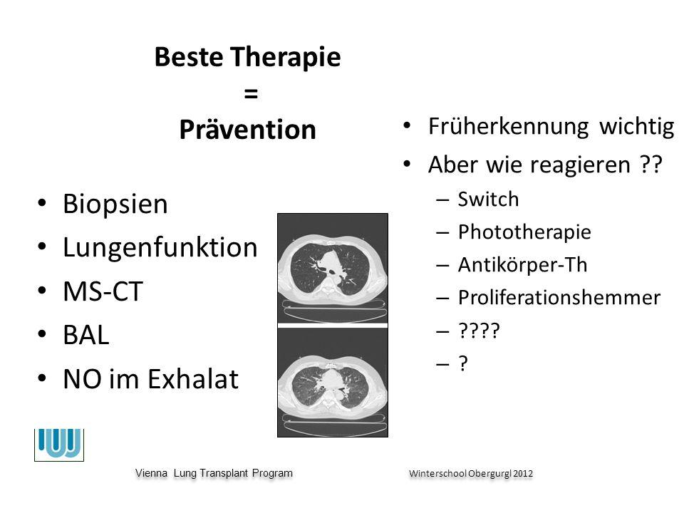 Vienna Lung Transplant Program Winterschool Obergurgl 2012 Vienna Lung Transplant Program Winterschool Obergurgl 2012 Beste Therapie = Prävention Früherkennung wichtig Aber wie reagieren .