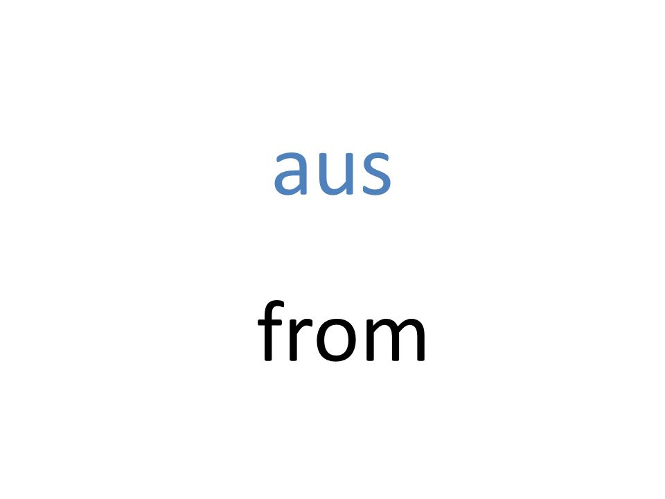 aus from