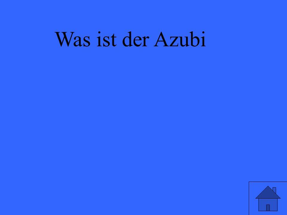 Was ist der Azubi