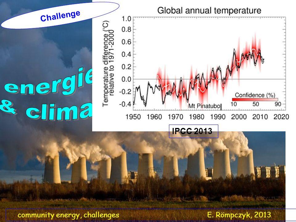 community energy, challenges E. Römpczyk, 2013 Challenge IPCC 2013