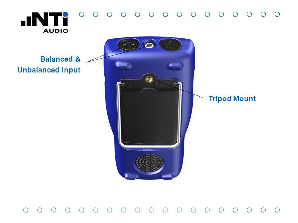 Tripod Mount Balanced & Unbalanced Input