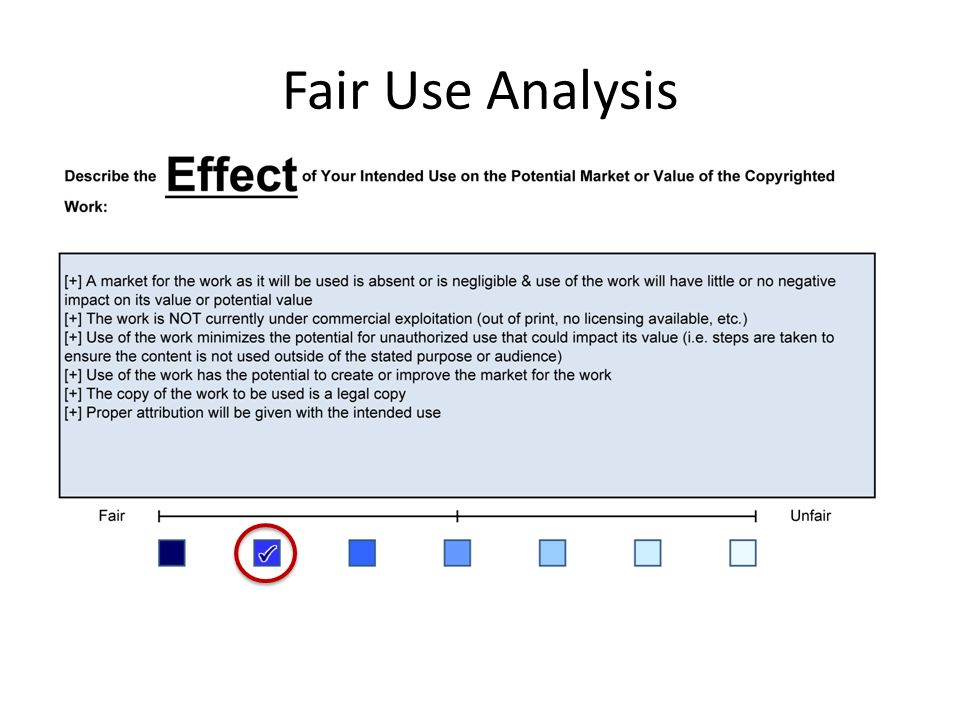 Fair Use Analysis