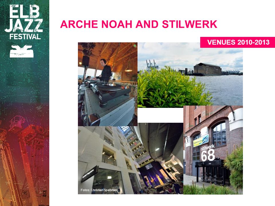 Fotos: Christian Spahrbier ARCHE NOAH AND STILWERK VENUES 2010-2013