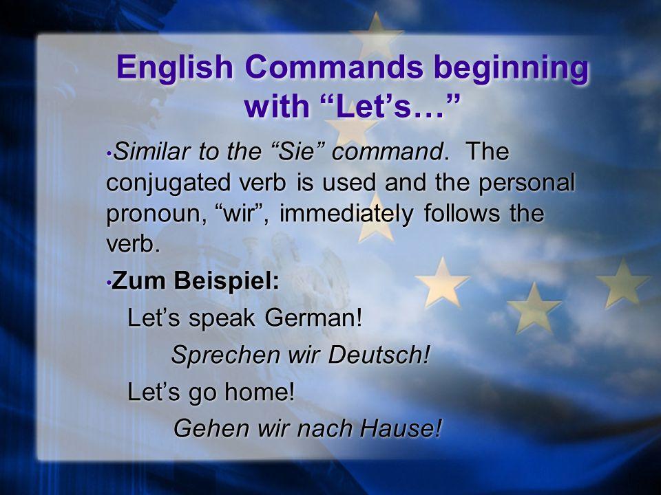 Familiar Command: Ihr, cont… zum Beispiel: Study. Learnt.