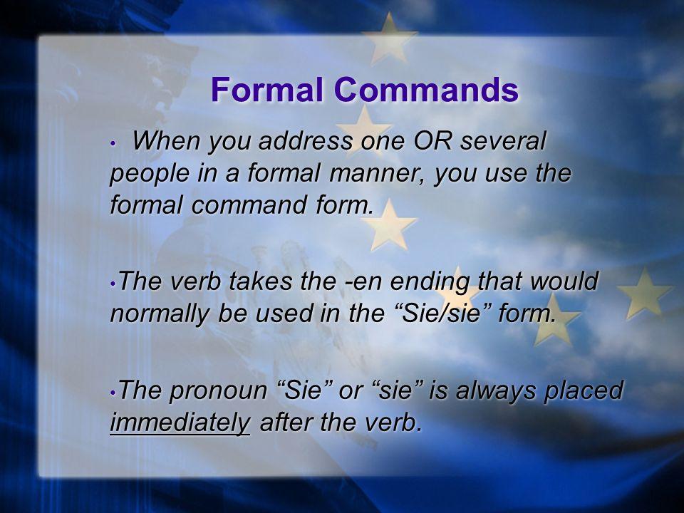 Giving Commands Komm mit! 2 Kapitel 2 Zweite Stufe Komm mit! 2 Kapitel 2 Zweite Stufe