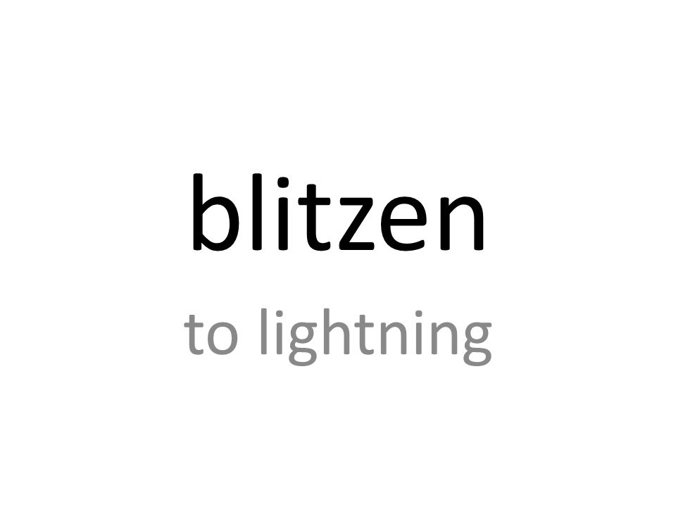 blitzen to lightning