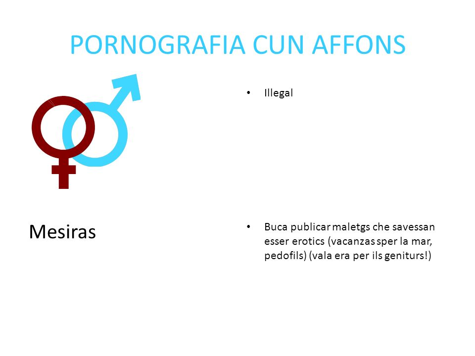 PORNOGRAFIA CUN AFFONS Mesiras Illegal Buca publicar maletgs che savessan esser erotics (vacanzas sper la mar, pedofils) (vala era per ils geniturs!)