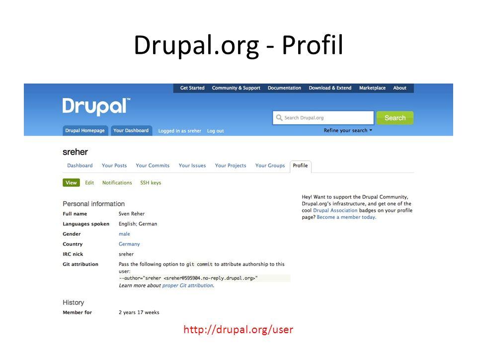 Drupal.org - Profil http://drupal.org/user