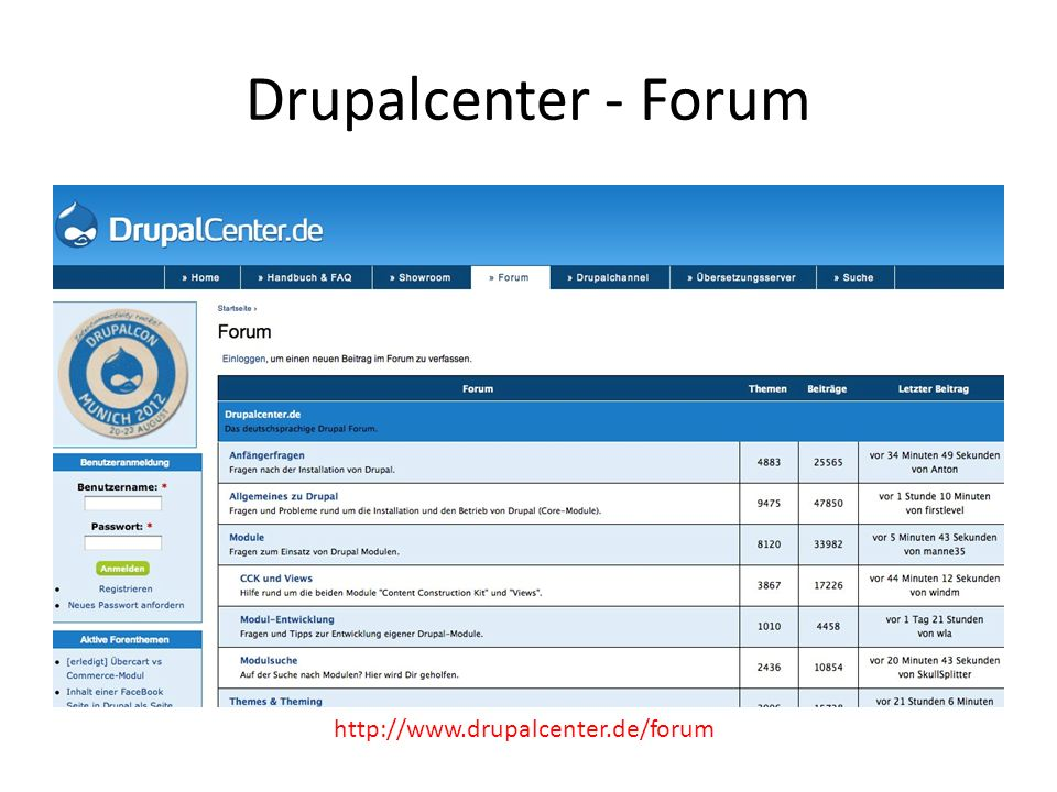 Drupalcenter - Forum http://www.drupalcenter.de/forum