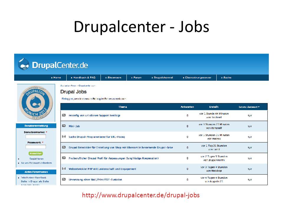 Drupalcenter - Jobs http://www.drupalcenter.de/drupal-jobs