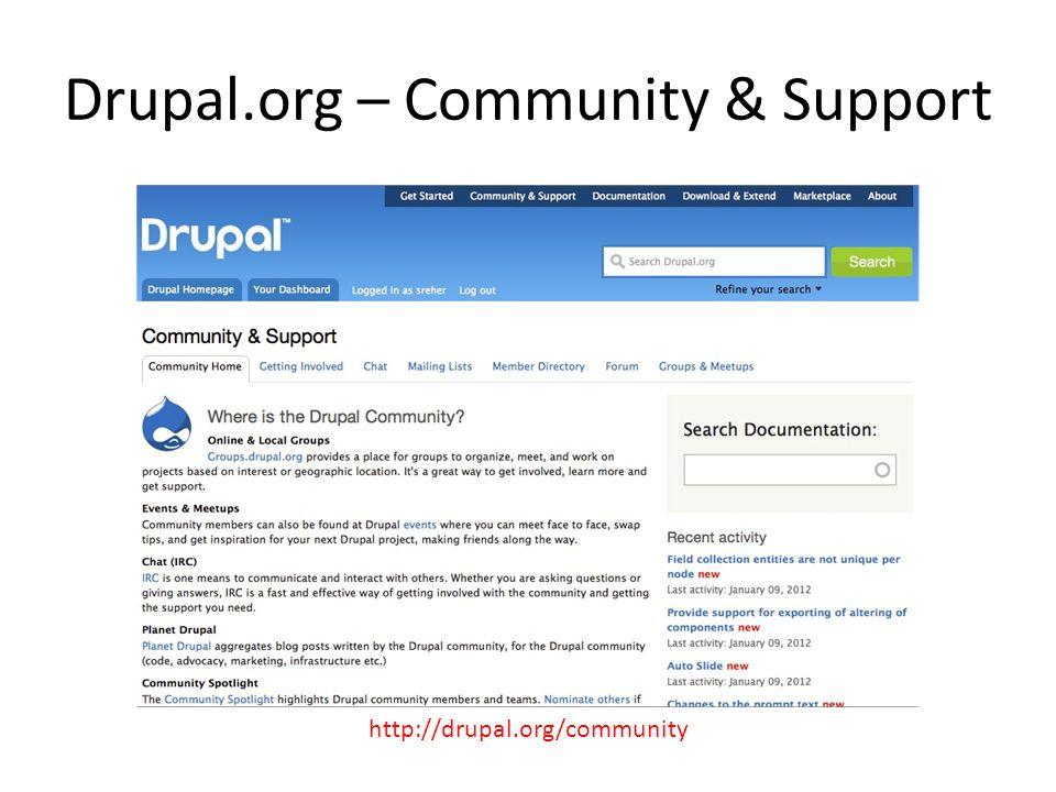 Drupal.org – Community & Support http://drupal.org/community
