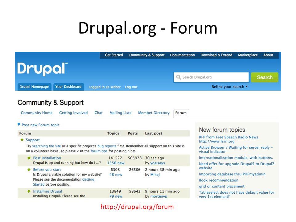 Drupal.org - Forum http://drupal.org/forum