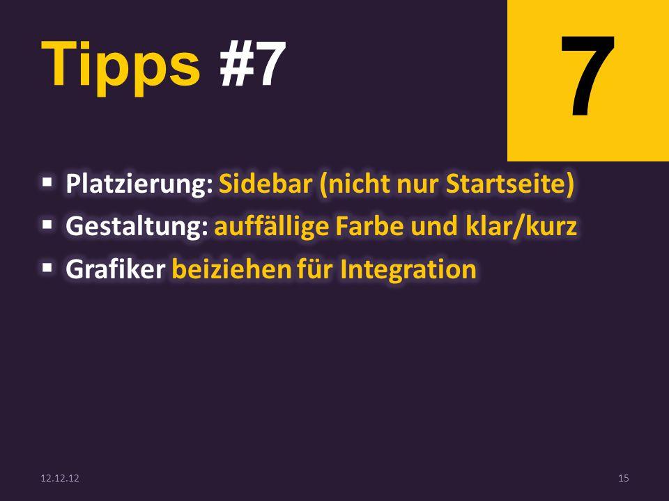 Tipps #7 12.12.1215 7