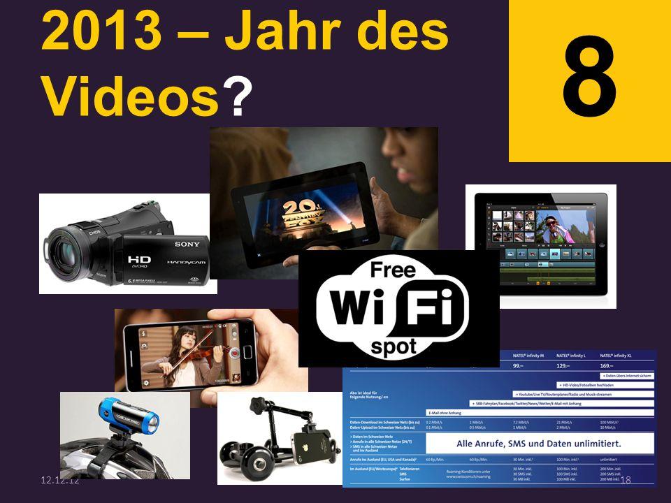 2013 – Jahr des Videos? 8 12.12.1218