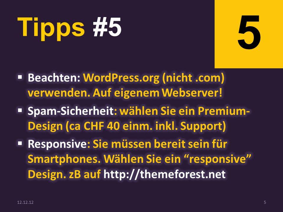 Tipps #5 12.12.125 5