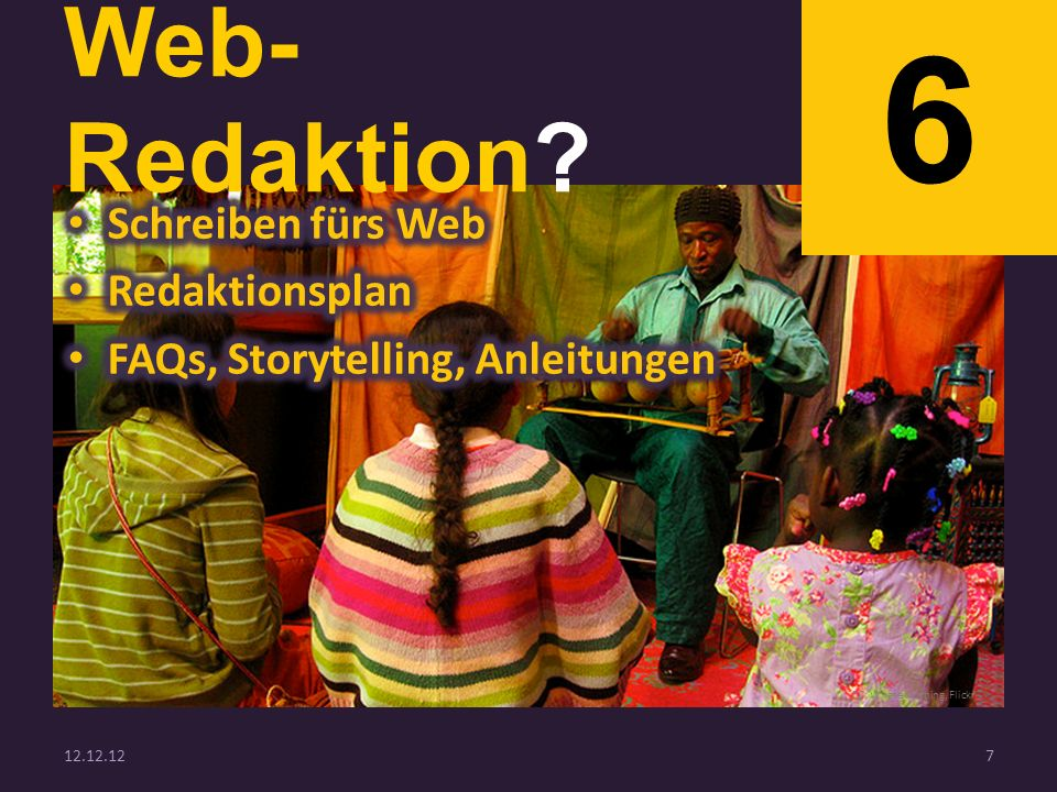 Web- Redaktion 6 12.12.127 CC: Whateverthing, Flickr