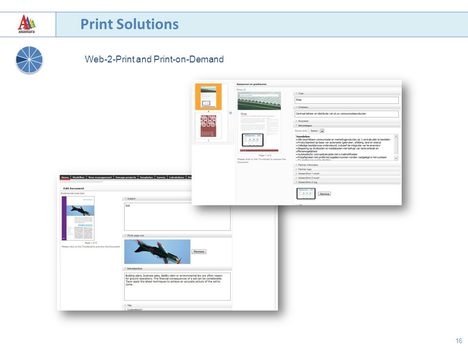 16 Print Solutions Web-2-Print and Print-on-Demand