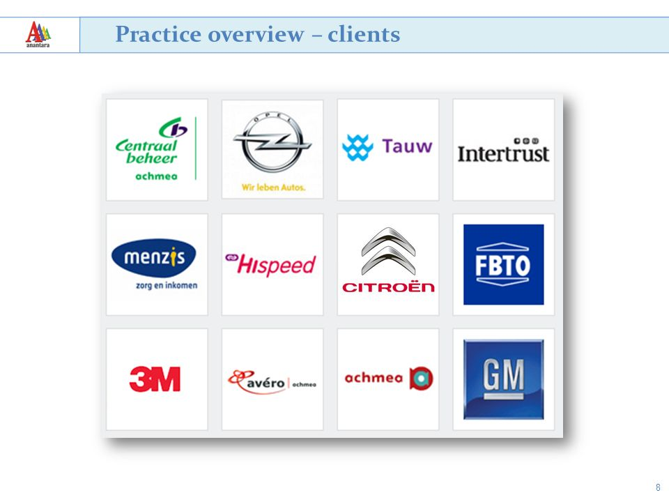 8 Practice overview – clients