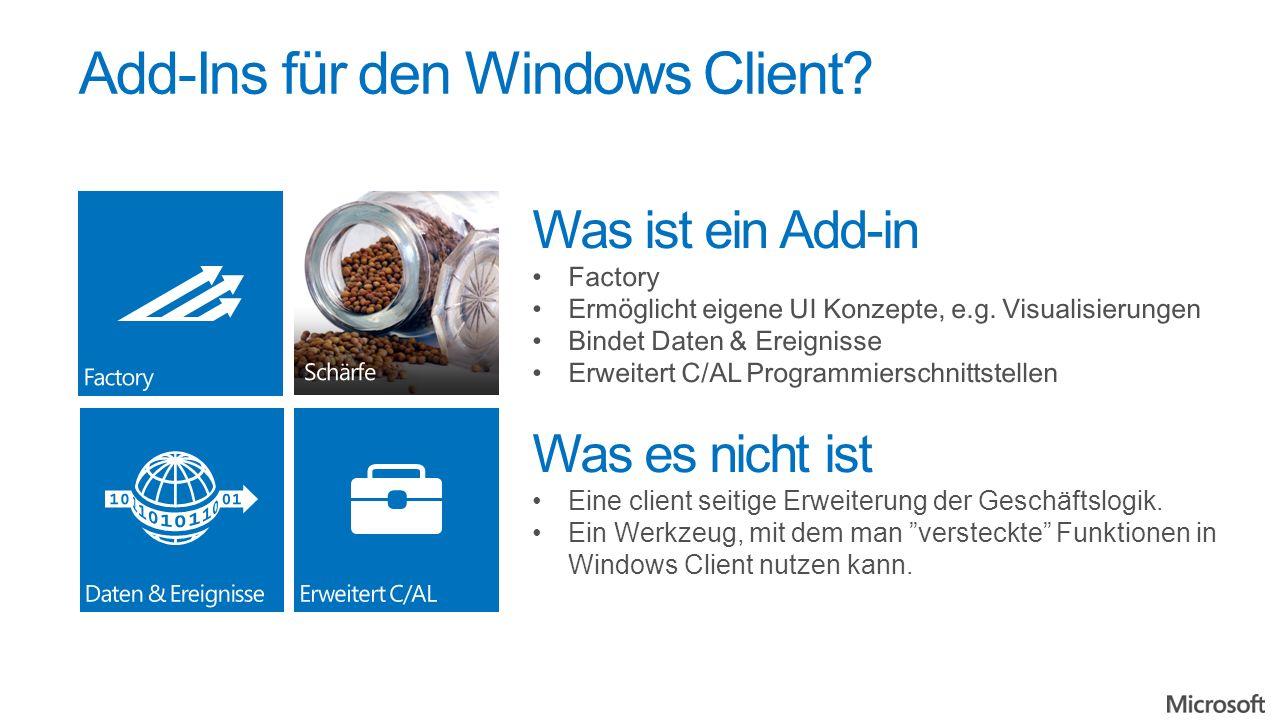 Add-Ins für den Windows Client