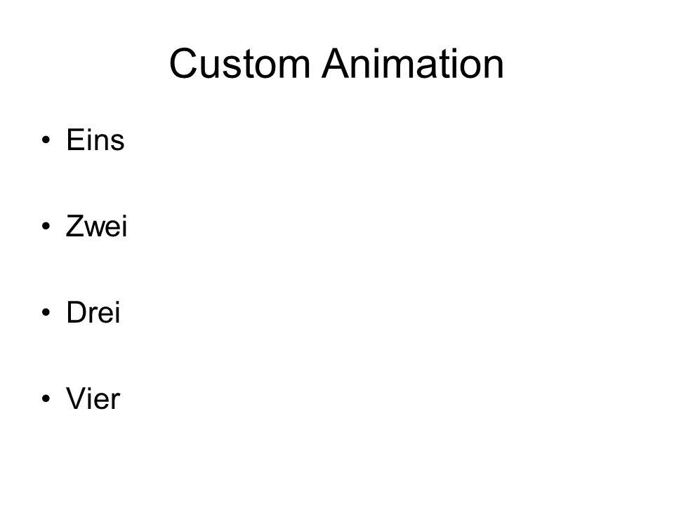 Practice Animations Eins Zwei Drei Vier