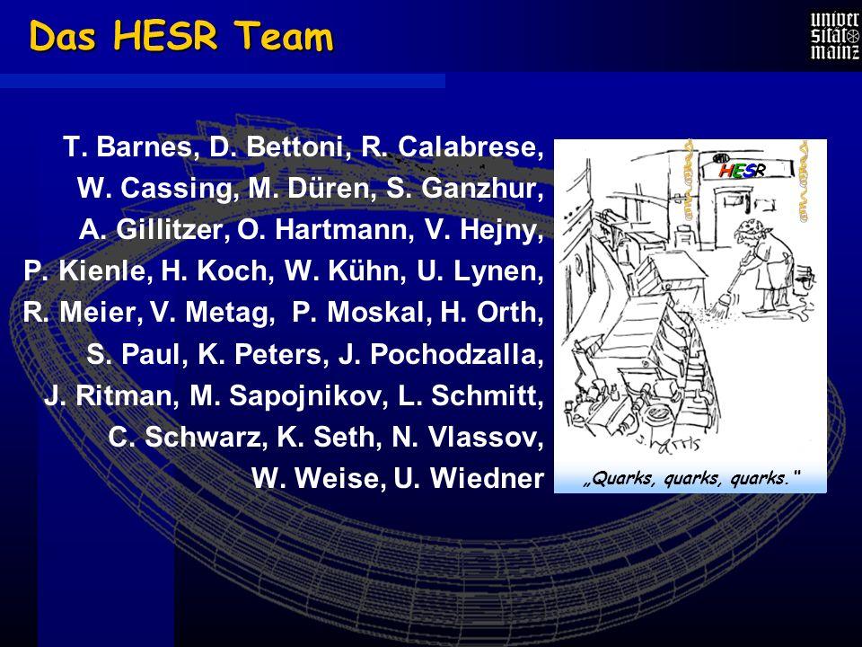 Das HESR Team T. Barnes, D. Bettoni, R. Calabrese, W.