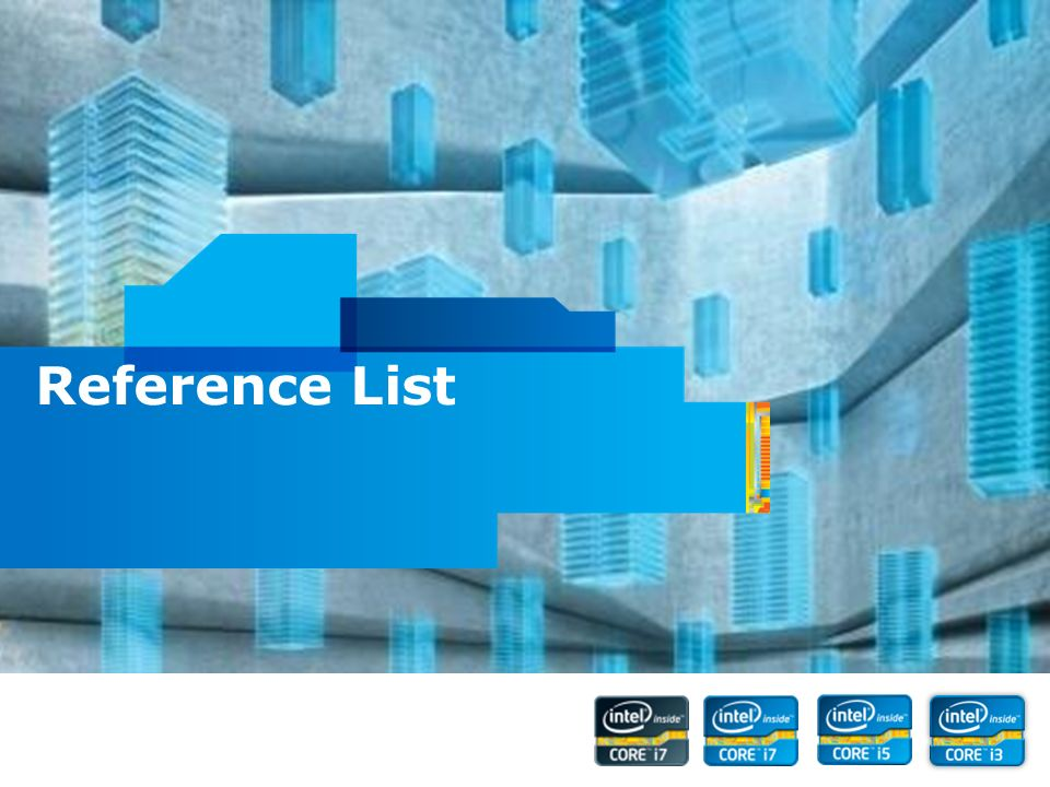 Intel Confidential Reference List