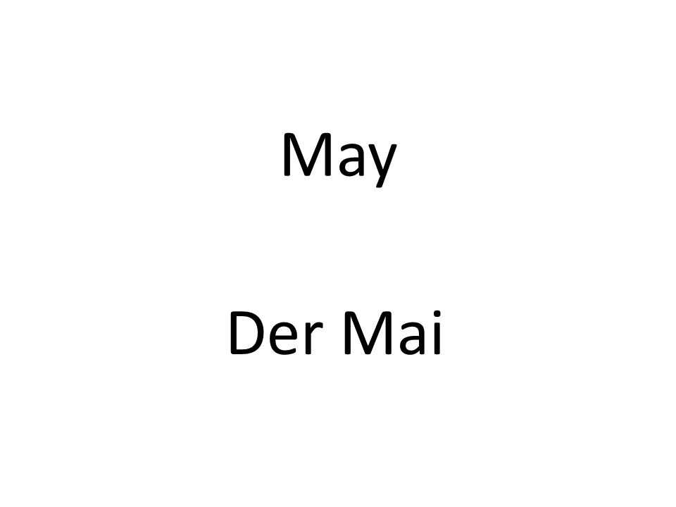 May Der Mai