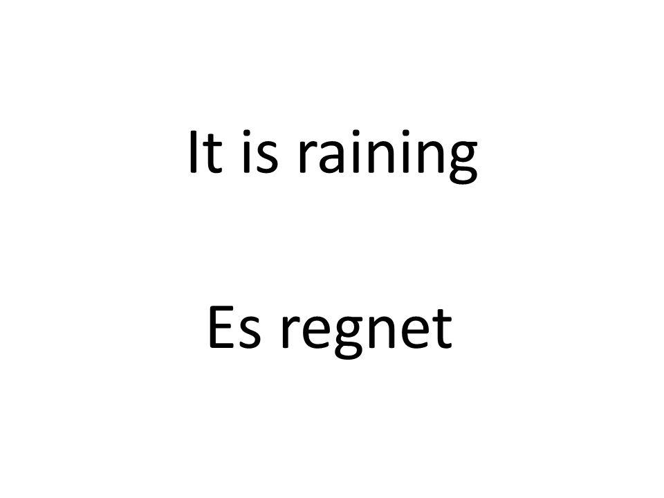 It is raining Es regnet
