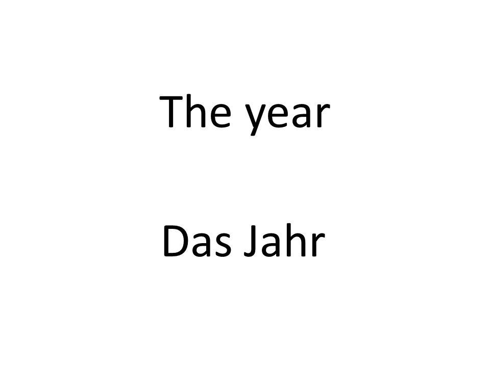 The year Das Jahr