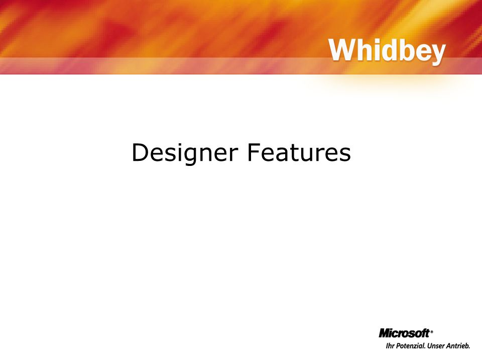 Designer Features