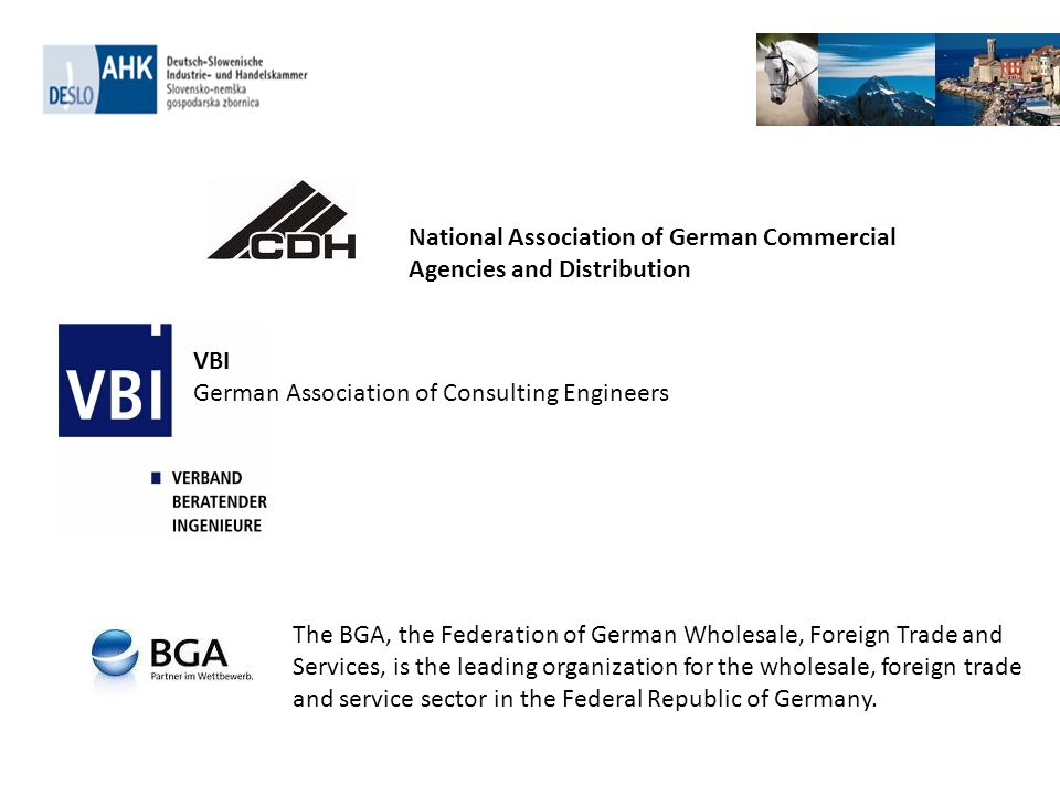 . The BGA, the Federation of German Wholesale, Foreign Trade and Services, is the leading organization for the wholesale, foreign trade and service se