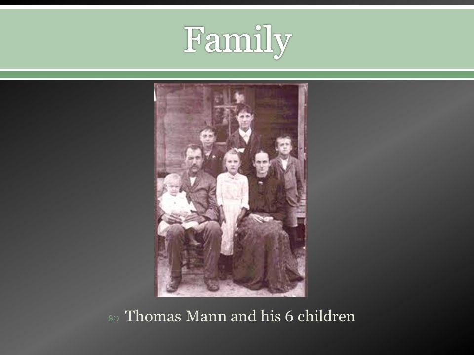 Thomas Mann and his 6 children