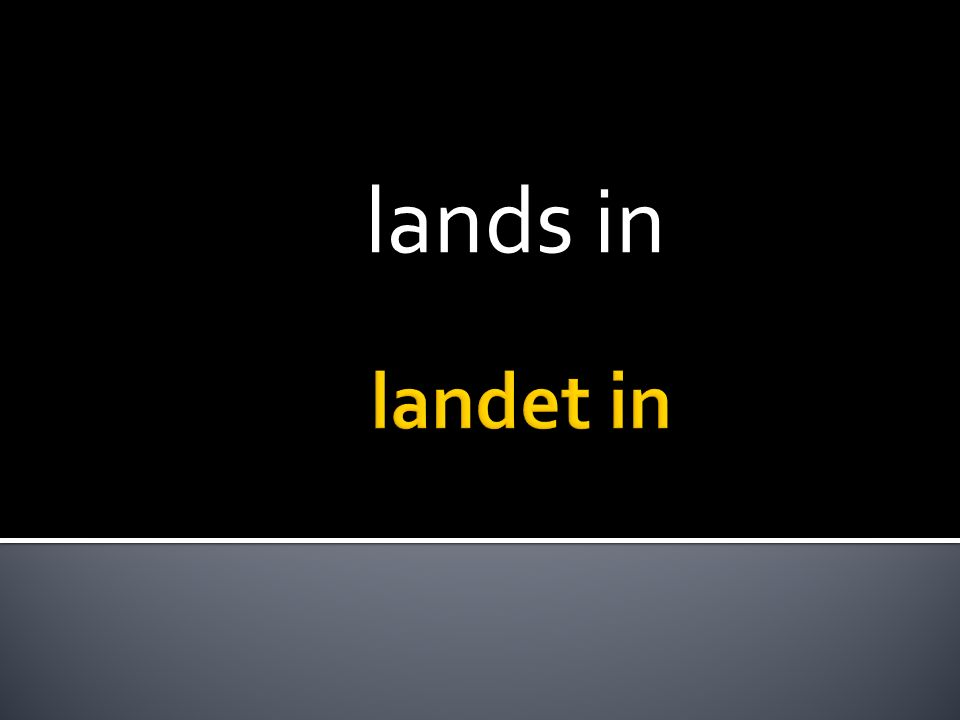 lands in